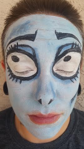 Emily Corpse Bride Makeup Step 2