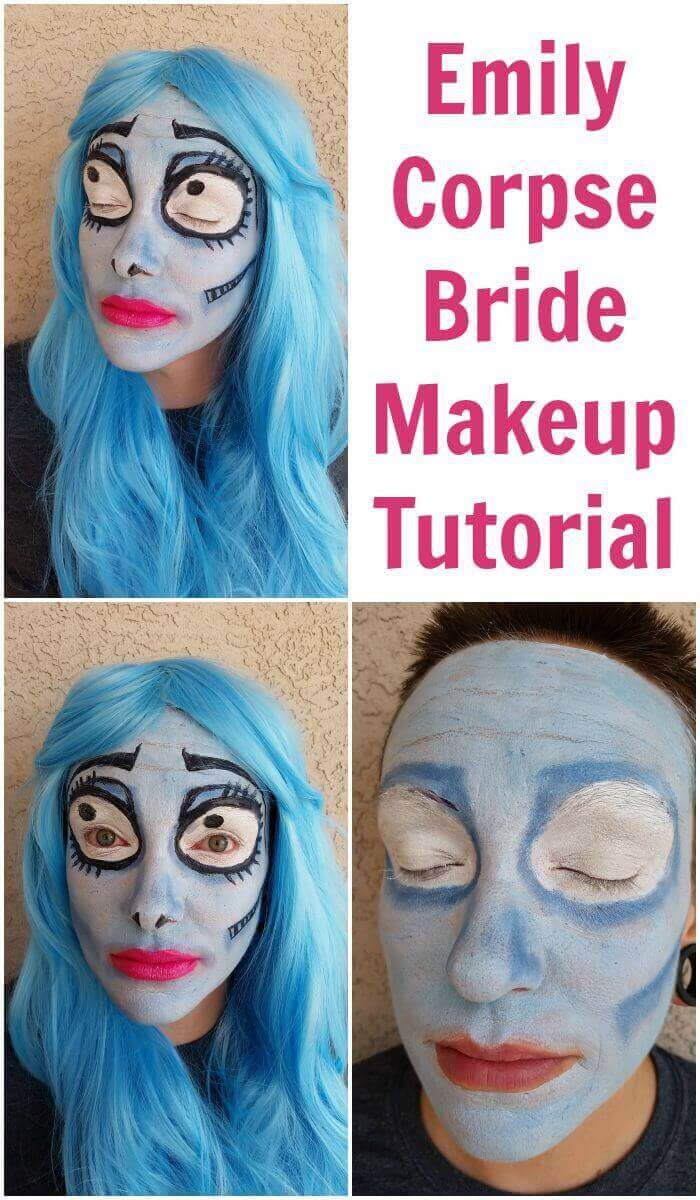 Emily Corpse Bride makeup is the perfect Halloween costume.