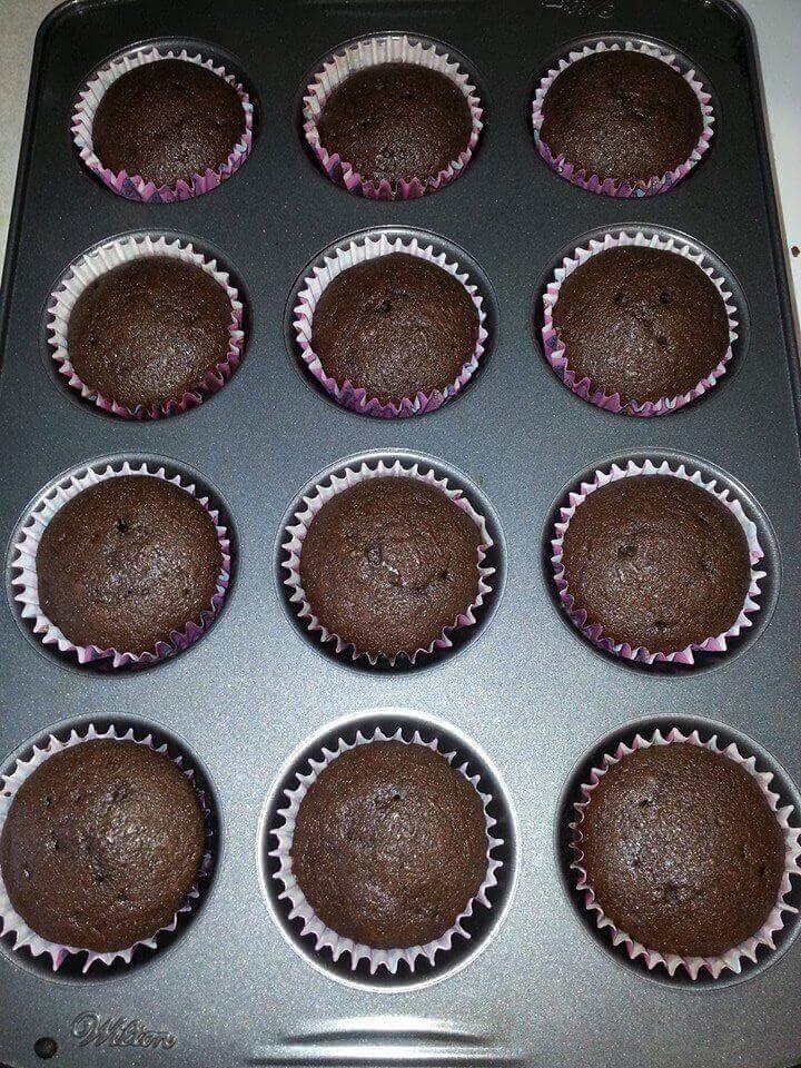 Hershey Kiss Inspired Cupcakes