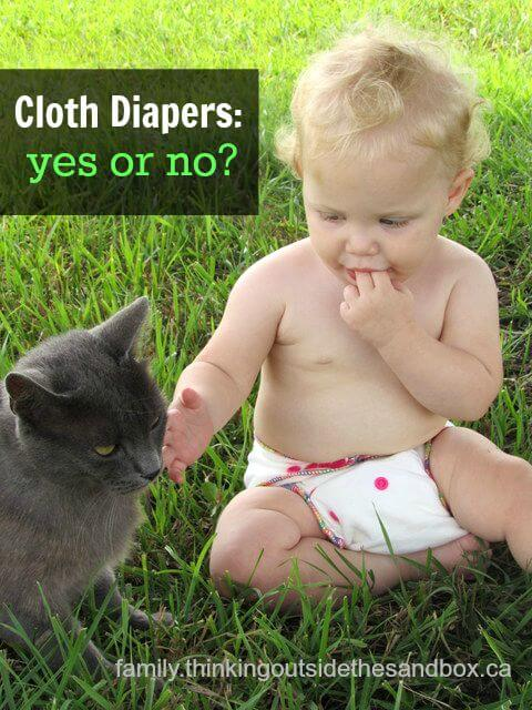 If I didn't advocate at least a teensy bit for cloth, what kind of a cloth diapering blogger would I be anyway, right? ;-)