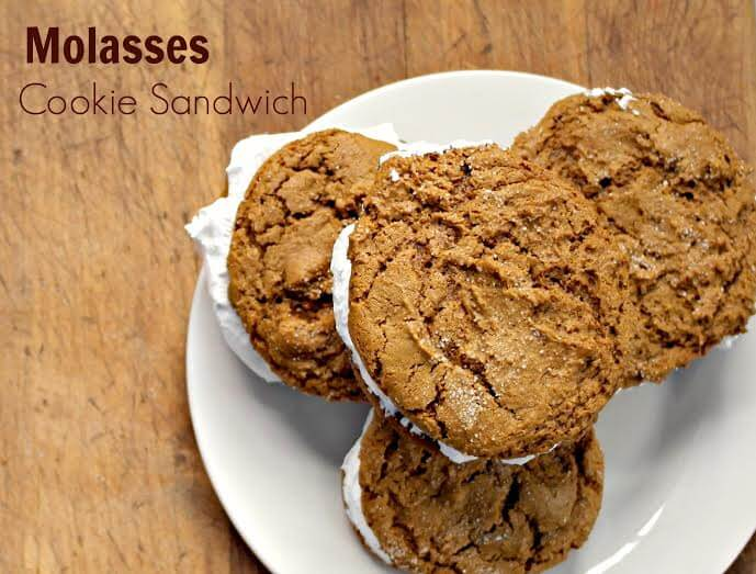 TOTS Family, Parenting, Kids, Food, Crafts, DIY and Travel 11 Molasses Cookie Sandwiches Desserts Food TOTS Family  recipe food cookies