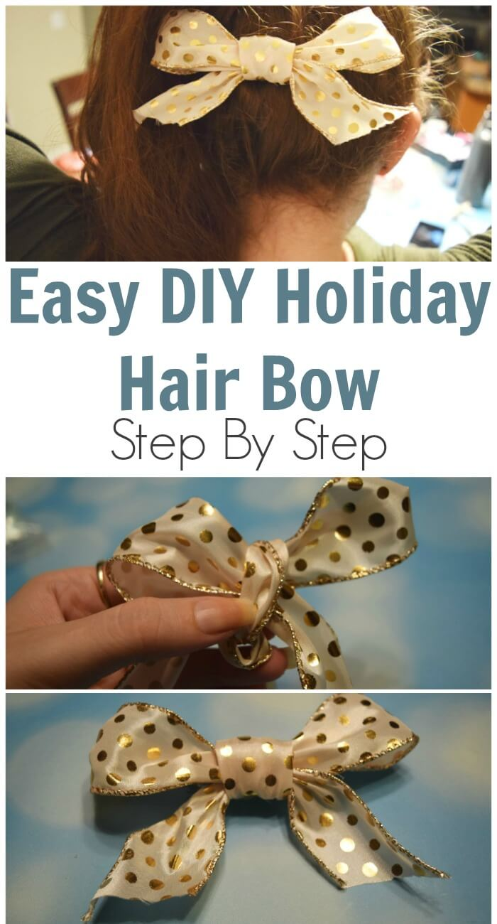 TOTS Family, Parenting, Kids, Food, Crafts, DIY and Travel Easy-DIY-Holiday-Hair-Bow Easy DIY Holiday Hair Bow - Step By Step Kids Style TOTS Family  holiday hair diy