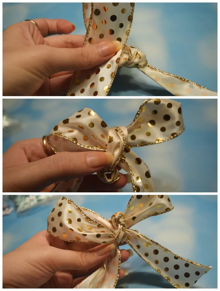 Next Steps for making an easy DIY holiday bow