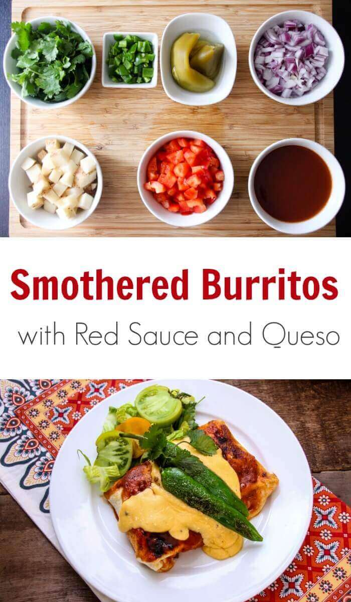 TOTS Family, Parenting, Kids, Food, Crafts, DIY and Travel Smothered-Burritos-with-Red-Sauce-and-Queso-Recipe Smothered Burritos with Red Sauce and Queso Recipe Food Main Dish Sponsored TOTS Family  Red Sauce recipe Queso Burritos