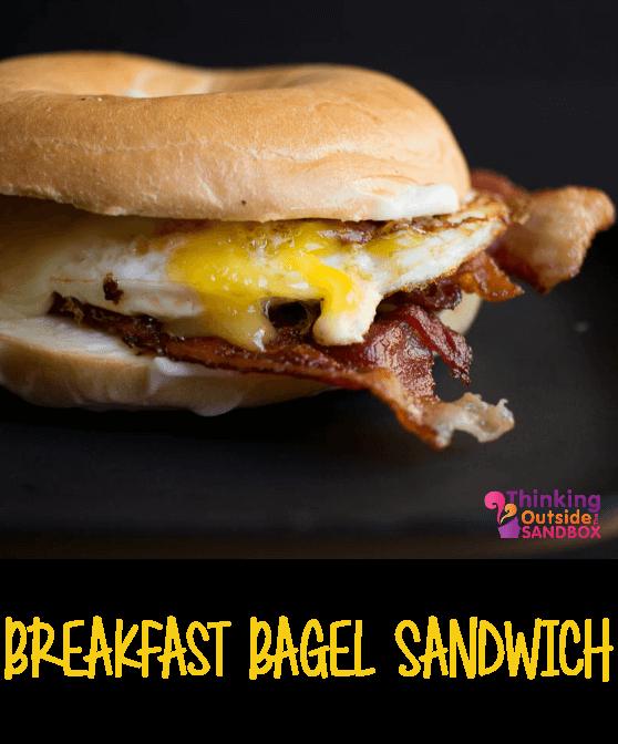 TOTS Family, Parenting, Kids, Food, Crafts, DIY and Travel TOTS-Breakfast-Sandwich Breakfast Bagel Sandwich Breakfast Food TOTS Family  recipe