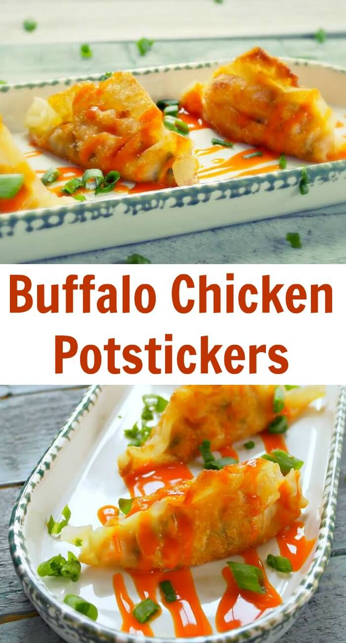 TOTS Family, Parenting, Kids, Food, Crafts, DIY and Travel Buffalo-Chicken-Potstickers-Recipe Buffalo Chicken Potstickers Food Main Dish TOTS Family  recipe potstickers food chicken
