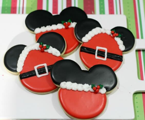 TOTS Family, Parenting, Kids, Food, Crafts, DIY and Travel Santa-Mrs.-Claus-Mickey-Mouse-Minnie-Mouse-Cookie-Recipe Santa & Mrs. Claus Mickey Mouse and Minnie Mouse Cookie Desserts Food Holiday Treats TOTS Family  mickey mouse disney cookie christmas