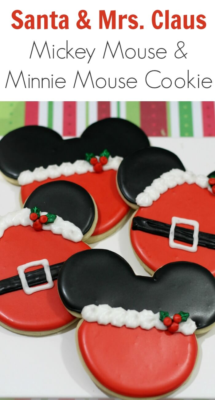 TOTS Family, Parenting, Kids, Food, Crafts, DIY and Travel Santa-Mrs.-Claus-Mickey-Mouse-Minnie-Mouse-Cookie Santa & Mrs. Claus Mickey Mouse and Minnie Mouse Cookie Desserts Food Holiday Treats TOTS Family  mickey mouse disney cookie christmas