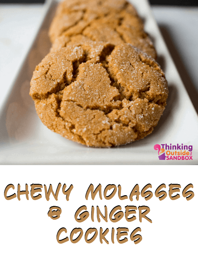 I love these chewy Molasses and Ginger Cookies, and still chowing down on these cookies. I guess this is that happens when you make enough to feed an army.