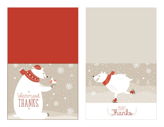 Christmas Thank You Card Printable With Tracker