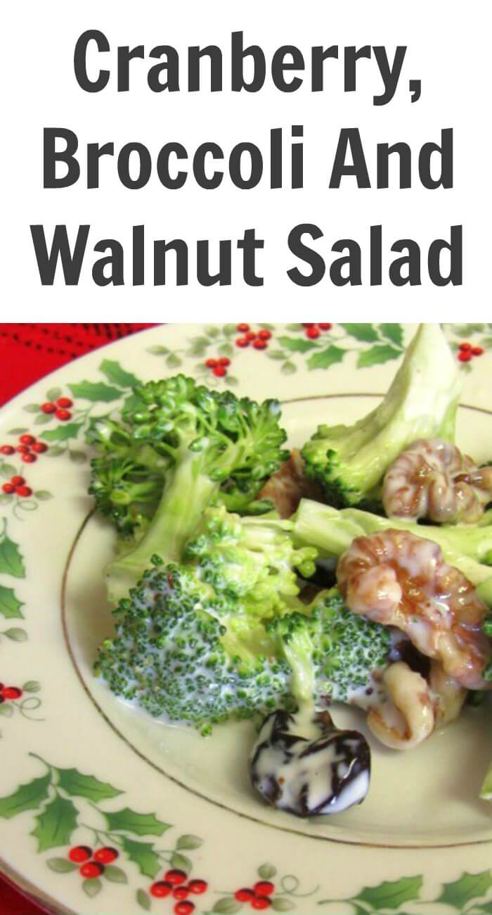TOTS Family, Parenting, Kids, Food, Crafts, DIY and Travel Cranberry-Broccoli-And-Walnut-Salad Cranberry Broccoli and Walnut Salad Breads/Soups/Salads Food Holiday Treats TOTS Family  vegetable salad recipe food Cranberry Broccoli and Walnut Salad