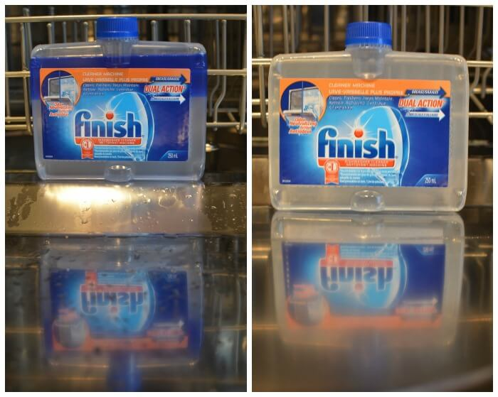 Finish Dishwasher Cleaner - Dirty and Clean