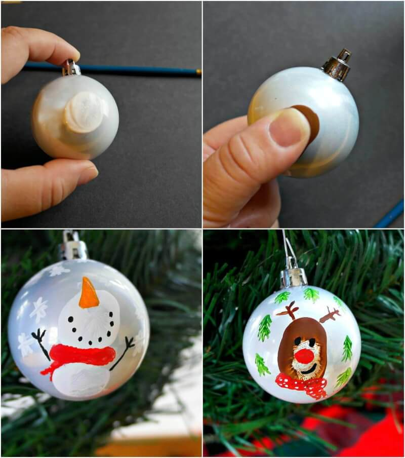 TOTS Family, Parenting, Kids, Food, Crafts, DIY and Travel ornament-pin-2 Double Sided Thumbprint Keepsake Ornament Home Kids TOTS Family  ornament kids holiday easy diy craft