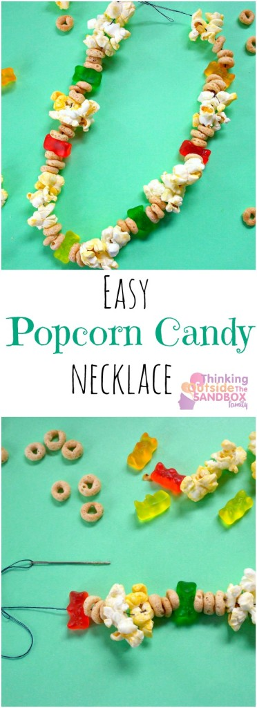 TOTS Family, Parenting, Kids, Food, Crafts, DIY and Travel popcorn-necklace-pin1-372x1024 Easy Popcorn Candy Necklace Edible Craft Crafts Holiday Treats Kids TOTS Family  Popcorn Candy Necklace Edible Craft
