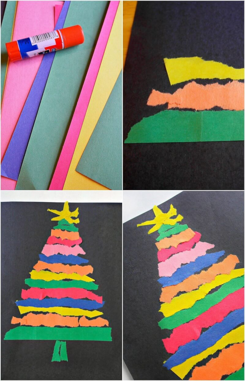 TOTS Family, Parenting, Kids, Food, Crafts, DIY and Travel tree-pin-1 Easy Ripped Paper Tree Craft for the Whole Family Crafts Kids Parenting TOTS Family Uncategorized  ripped paper ripped Paper Tree paper kids craft christmas