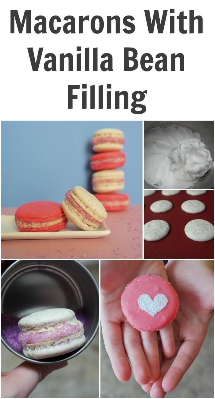 TOTS Family, Parenting, Kids, Food, Crafts, DIY and Travel Macarons-With-Vanilla-Bean-Filling Macarons With Vanilla Bean Filling Desserts Food TOTS Family  vanilla bean buttercream recipe macaron gluten free almond flour