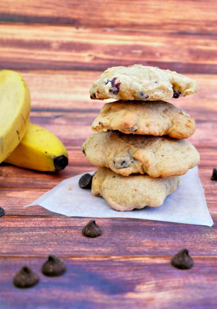 Low Fat Semi Homemade Banana Chip Cookies