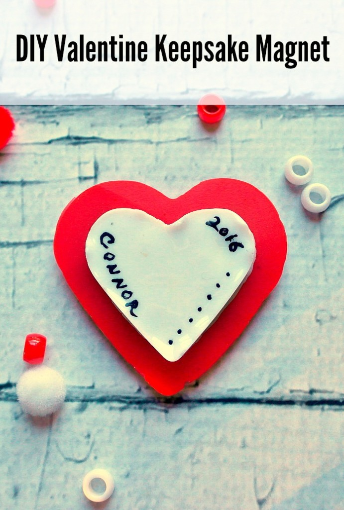 Our kids loved making this Melted Bead Valentine Craft Keepsake Magnet and so will you kid's.