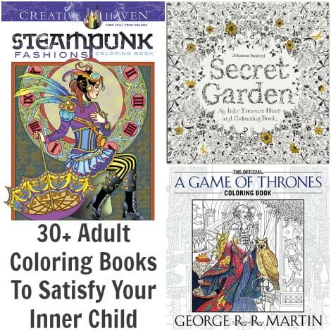 30+ Adult Coloring Books To Satisfy Your Inner Child