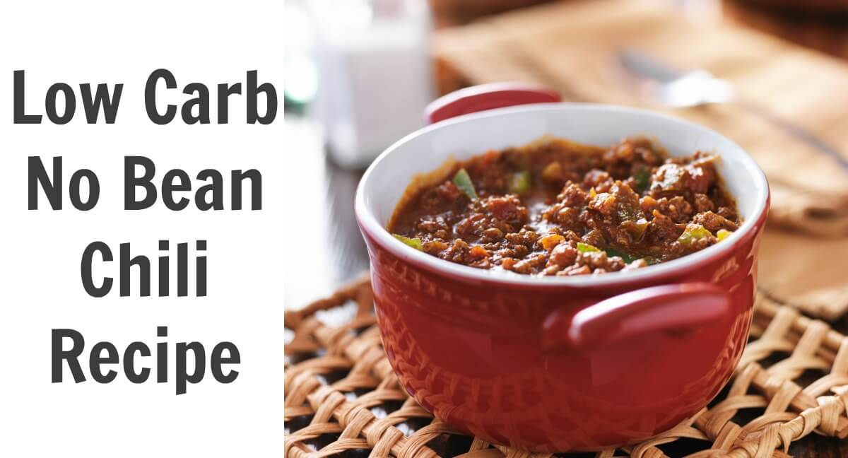 My husband stopped eating beans but he loves chili. The answer is this Low Carb No Bean Chili Recipe full of meat, veggies, and spices.