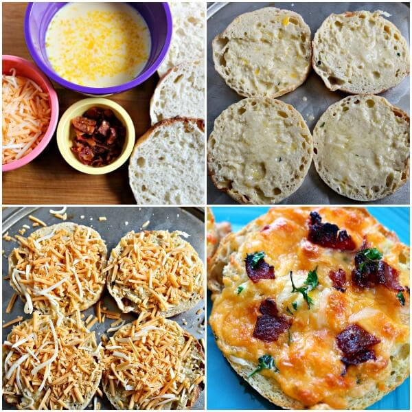 TOTS Family, Parenting, Kids, Food, Crafts, DIY and Travel pizza-collage English Muffin Bacon Cheddar Breakfast Pizza Appetizers Breakfast Food Main Dish Miscellaneous Recipes TOTS Family Uncategorized  recipe pizza English Muffin cheese breakfast bacon