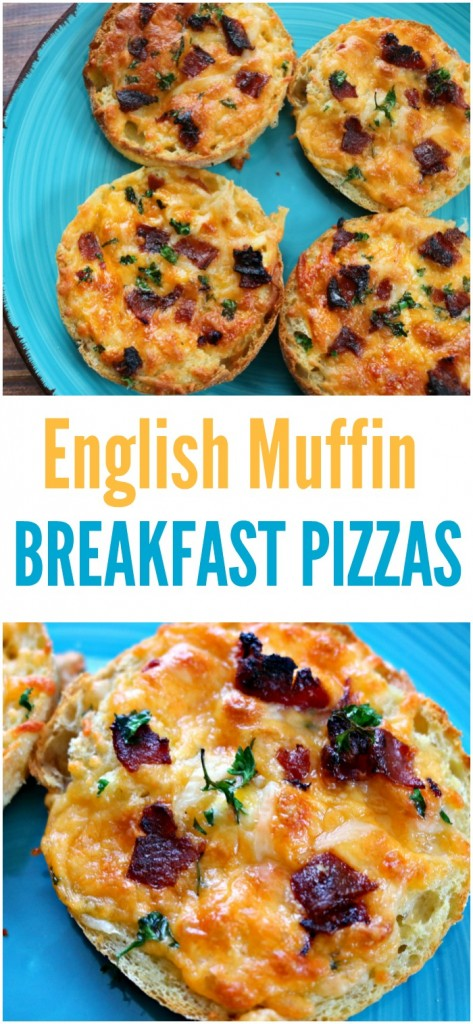 These english muffin breakfast pizzas are a surefire winner with your family for breakfast. They are easy to make, filling, and delicious.