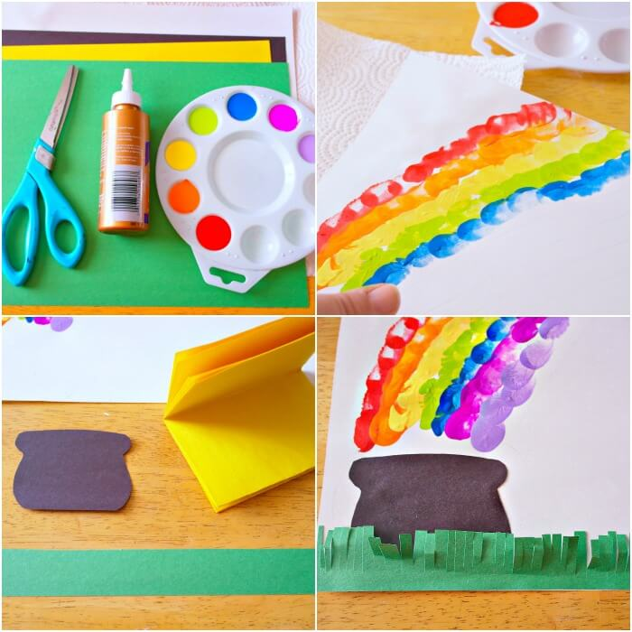 TOTS Family, Parenting, Kids, Food, Crafts, DIY and Travel rainbow-collage- Thumbprint Rainbow St.Patrick's Day Craft Crafts TOTS Family  St. Patrick's Day kids craft