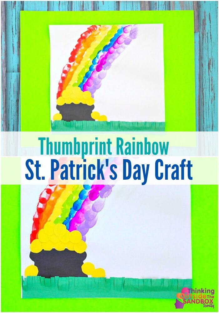 TOTS Family, Parenting, Kids, Food, Crafts, DIY and Travel rainbow-pin- Thumbprint Rainbow St.Patrick's Day Craft Crafts TOTS Family  St. Patrick's Day kids craft
