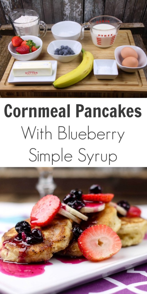 TOTS Family, Parenting, Kids, Food, Crafts, DIY and Travel Cornmeal-Pancakes-With-Blueberry-Simple-Syrup-512x1024 Cornmeal Pancakes With Fruit Breakfast Food TOTS Family  recipe breakfast