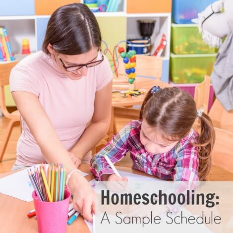 Homeschooling: A Sample Schedule