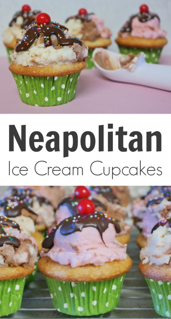 TOTS Family, Parenting, Kids, Food, Crafts, DIY and Travel Neapolitan-Ice-Cream-Cupcakes-551x1024 Neapolitan Ice Cream Cupcakes Desserts Food Kids TOTS Family  treat snack Neopolitan cupcakes kids ice cream cucpakes dessert cupcakes children
