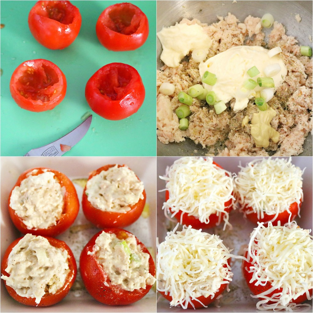 TOTS Family, Parenting, Kids, Food, Crafts, DIY and Travel tomato-collage-1024x1024 Tuna Melt Stuffed Tomatoes Appetizers Food Main Dish TOTS Family  tuna melt tuna recipe lunch dinner appetizer
