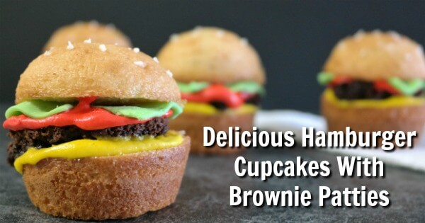 Delicious Hamburger Cupcakes With Brownie Patties