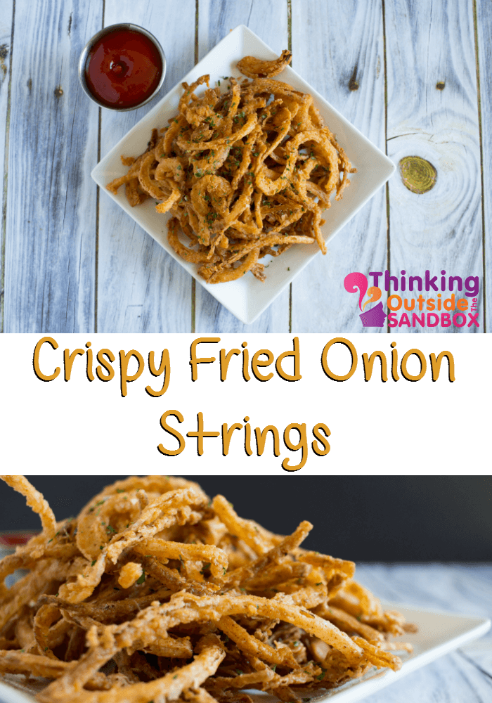 TOTS Family, Parenting, Kids, Food, Crafts, DIY and Travel Onions-Strings-TOTS Crispy Fried Onion Strings Appetizers Food Miscellaneous Recipes TOTS Family  recipe onions fried food
