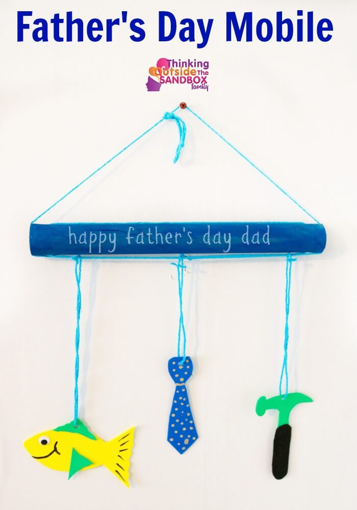 TOTS Family, Parenting, Kids, Food, Crafts, DIY and Travel fathers-day-final- Father's Day Mobile Craft Crafts DIY TOTS Family  Mobile father's day gift father's day craft