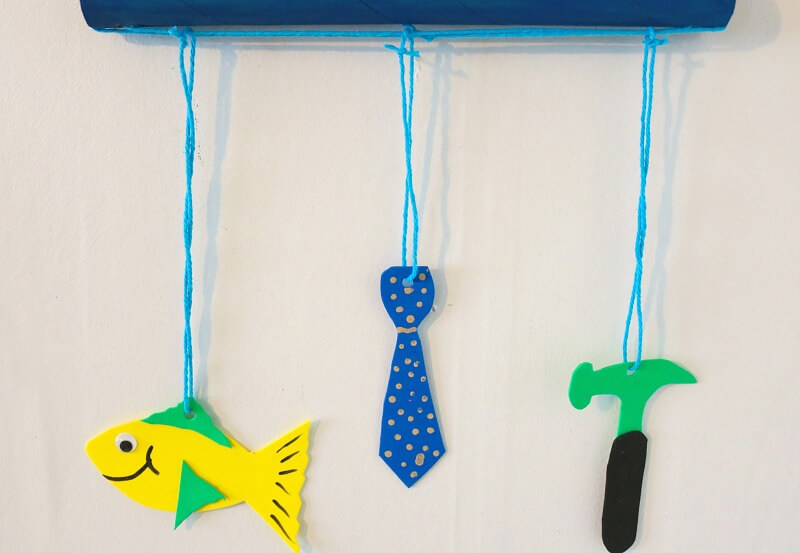 TOTS Family, Parenting, Kids, Food, Crafts, DIY and Travel fathers-day-horiz Father's Day Mobile Craft Crafts DIY TOTS Family  Mobile father's day gift father's day craft
