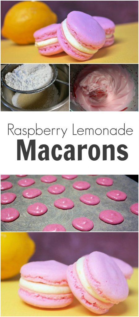 Raspberry Lemonade Macarons - Nothing says summer like a fresh glass of lemonade and now you have the option to eat delicious taste rather than drink it!