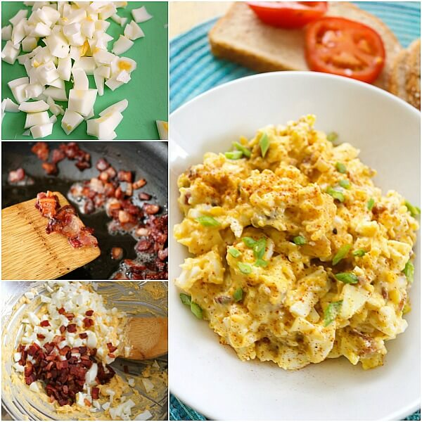 TOTS Family, Parenting, Kids, Food, Crafts, DIY and Travel egg-salad-FB-collage- Best Bacon and Egg Salad Recipe Breakfast Food Main Dish TOTS Family  recipe food egg bacon