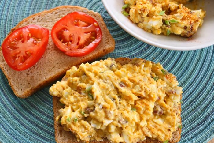 TOTS Family, Parenting, Kids, Food, Crafts, DIY and Travel egg-salad-horizontal Best Bacon and Egg Salad Recipe Breakfast Food Main Dish TOTS Family  recipe food egg bacon