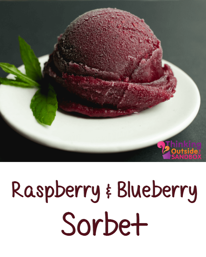 TOTS Family, Parenting, Kids, Food, Crafts, DIY and Travel Berry-Sorbet-Tots Homemade Raspberry Blueberry Sorbet Recipe Desserts Food TOTS Family  sorbet recipe fruit dessert