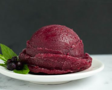 Homemade Raspberry Blueberry Sorbet Recipe