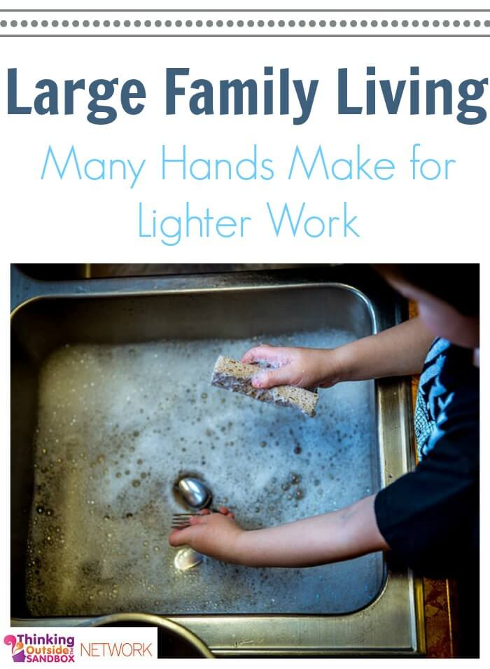 TOTS Family, Parenting, Kids, Food, Crafts, DIY and Travel Large-Family-Living Living With A Large Family: Many Hands Make For Lighter Work Parenting TOTS Family  parenting family chores for children children