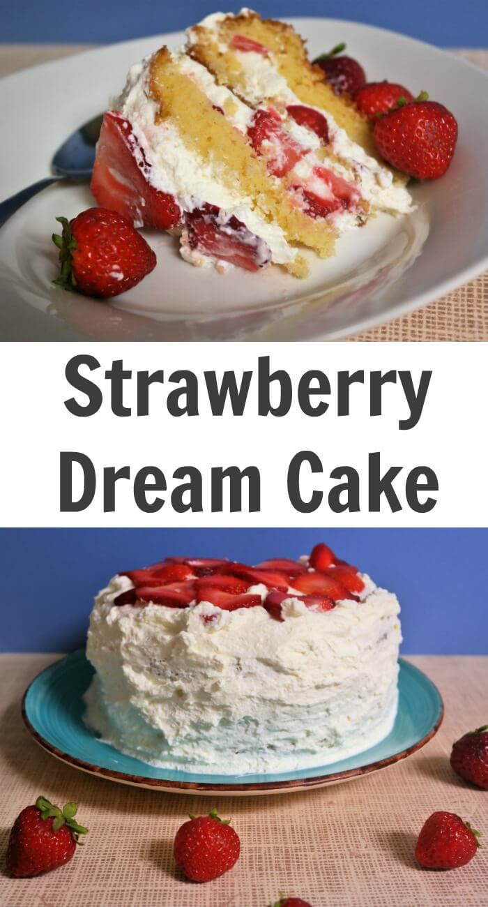 TOTS Family, Parenting, Kids, Food, Crafts, DIY and Travel Strawberry-Dream-Cake-Recipe Strawberry Dream Cake Recipe Desserts Food TOTS Family  whipped cream cake summer dessert summer berries strawberry dessert sponge cake recipe Italian sponge cake