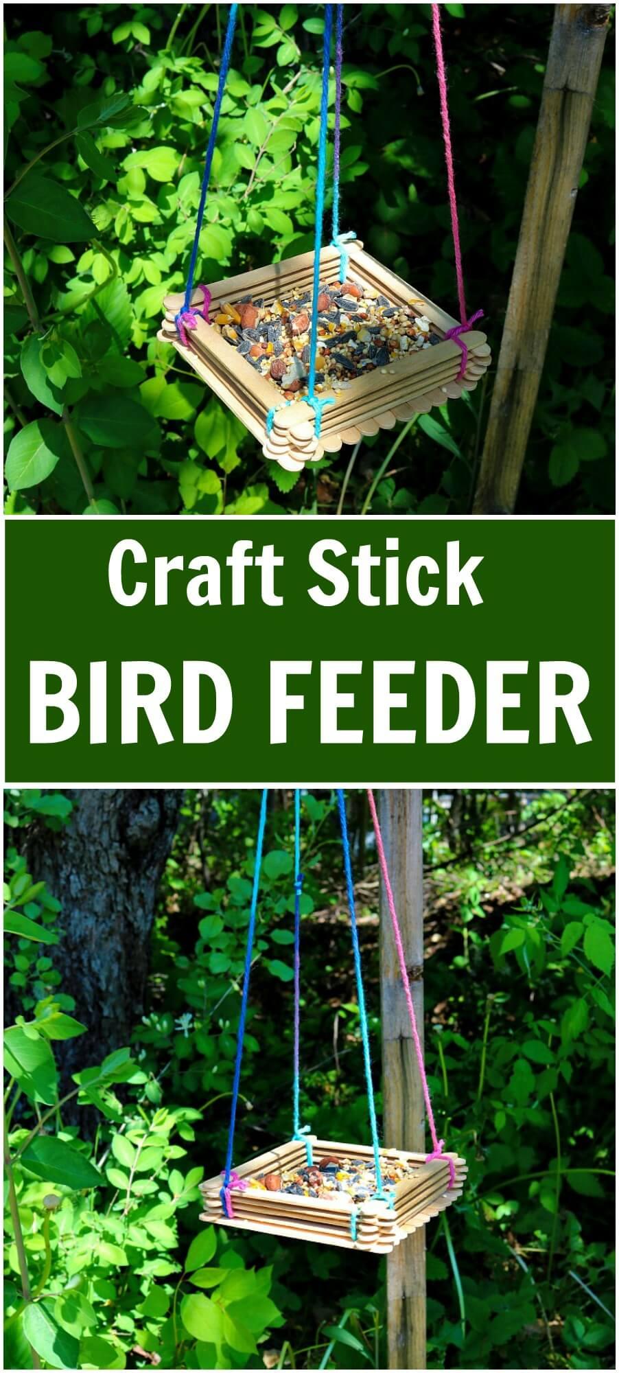 Craft stick bird feeder for Bird seed glue recipe