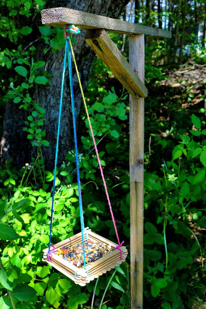 TOTS Family, Parenting, Kids, Food, Crafts, DIY and Travel feeder-vertical--683x1024 Craft Stick Bird Feeder Crafts Home Kids TOTS Family Uncategorized  kids craft birds bird feeder