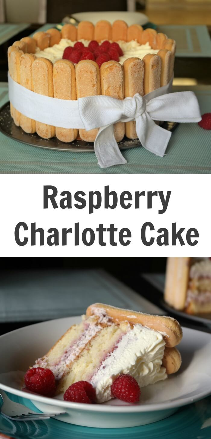 TOTS Family, Parenting, Kids, Food, Crafts, DIY and Travel Raspberry-Charlotte-Cake-Recipe Raspberry Charlotte Cake Recipe Desserts Food TOTS Family  summer treat sponge cake raspberry mousse raspberry Charlotte cake cake