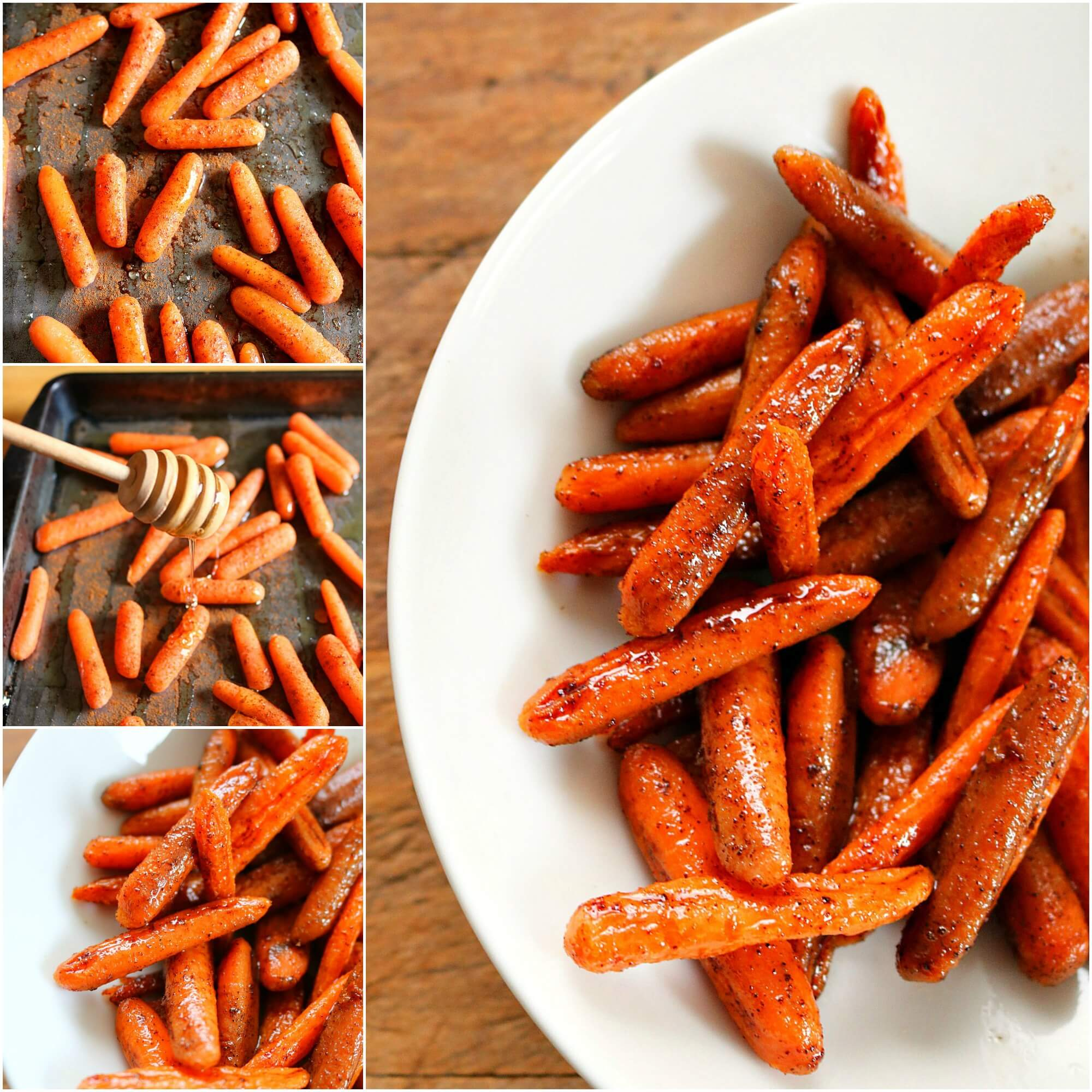 TOTS Family, Parenting, Kids, Food, Crafts, DIY and Travel carrots-fb-collage- Honey Glazed Oven Roasted Carrots Recipe Food Miscellaneous Recipes Side Dish TOTS Family Uncategorized  Side Dish Oven Roasted Carrots Honey Glazed Carrots