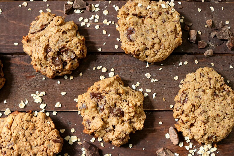 TOTS Family, Parenting, Kids, Food, Crafts, DIY and Travel oatmeal-chocolate-chunk-cookies-final-horizontal- Oatmeal Chocolate Chunk Cookie Recipe Desserts Food TOTS Family  recipe oatmeal cookies oatmeal chocolate cookies cookies