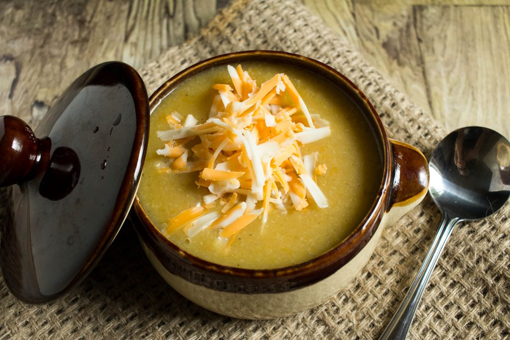Now that Fall is in the air and the days are getting cooler, Potato and Cheddar Vegetable Soup Recipe makes it's way onto the weekly menu.