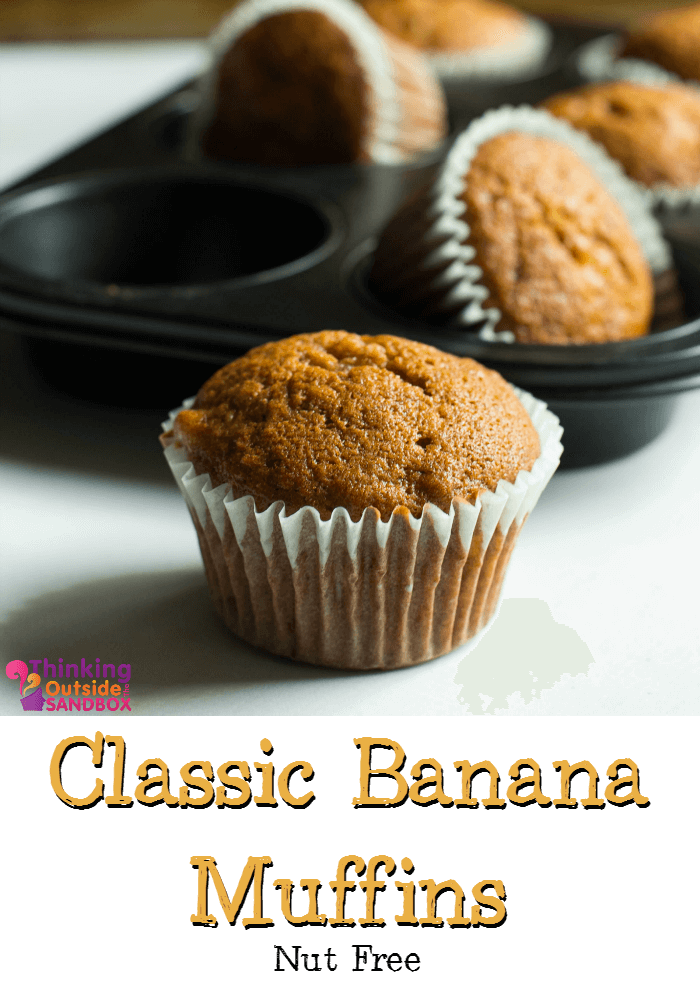 TOTS Family, Parenting, Kids, Food, Crafts, DIY and Travel TOTS-Banana-Muffins Classic Nut Free Banana Muffins Recipe Breads/Soups/Salads Breakfast Food Miscellaneous Recipes Sponsored  nut free muffin food breakfast banana